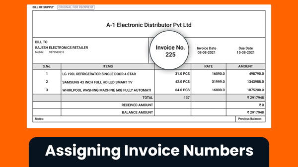 assigning invoice numbers