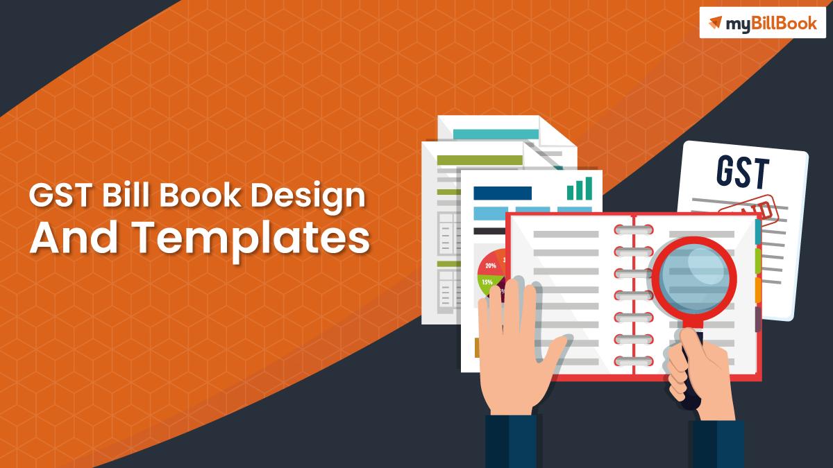 gst bill book design and template