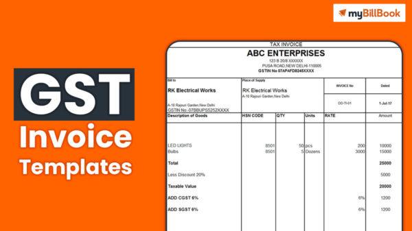 gst invoice templates