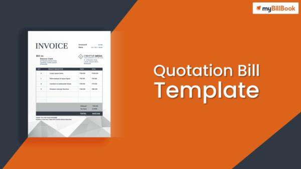 quotation bill template