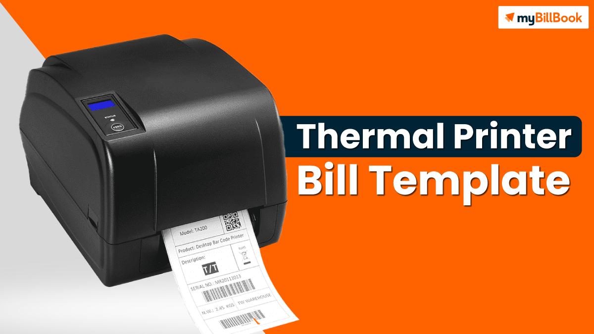 thermal printer bill template