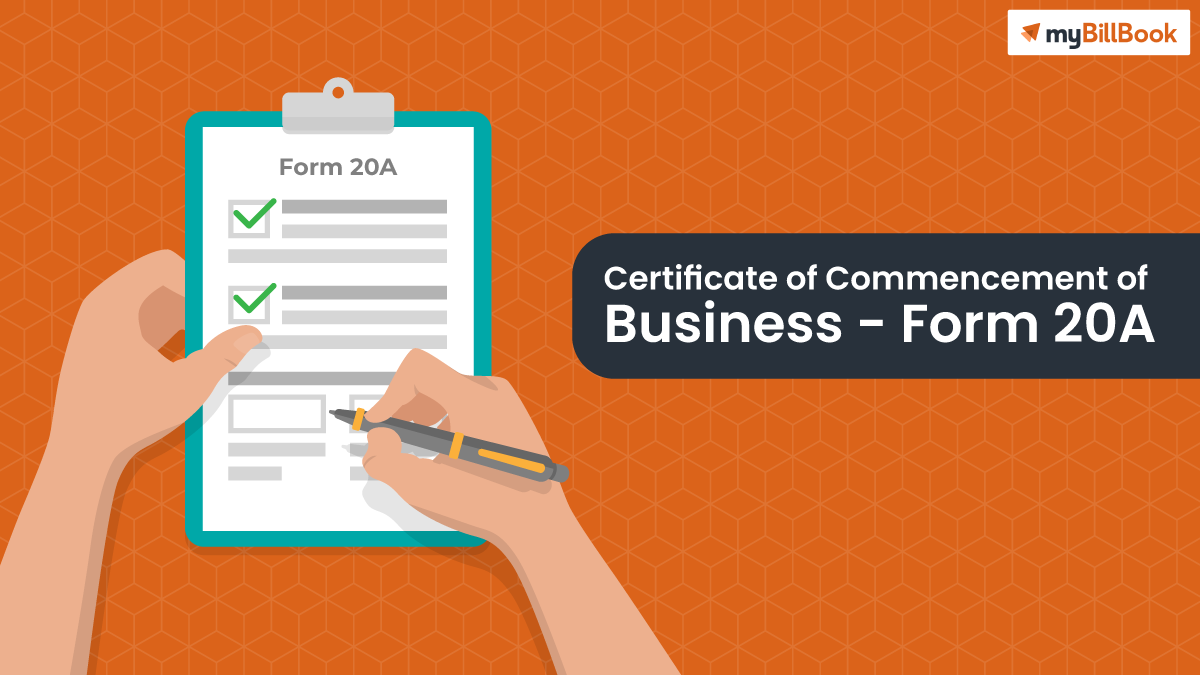 certificate of commencement of business form 20a