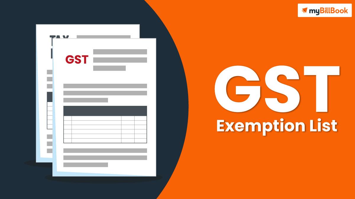 gst exemption list