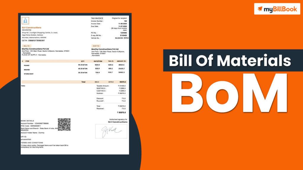 bill of materials bom