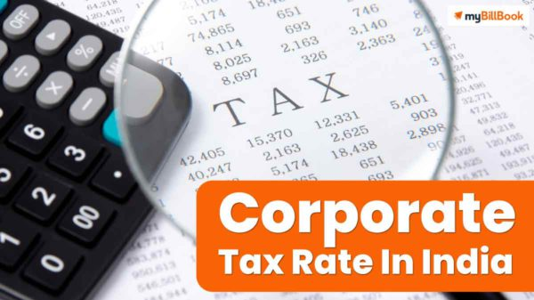 corporate tax rate in india